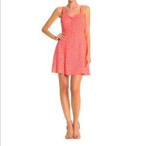 Abound V-Neck Front Button Fit & Flare Mini Dress